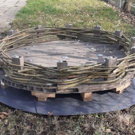Nestunterlage im Rohbau
